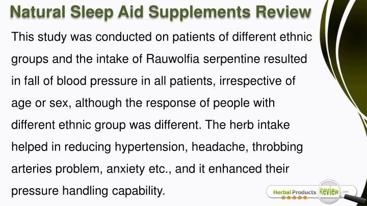Natural Sleep Aid Supplements Review