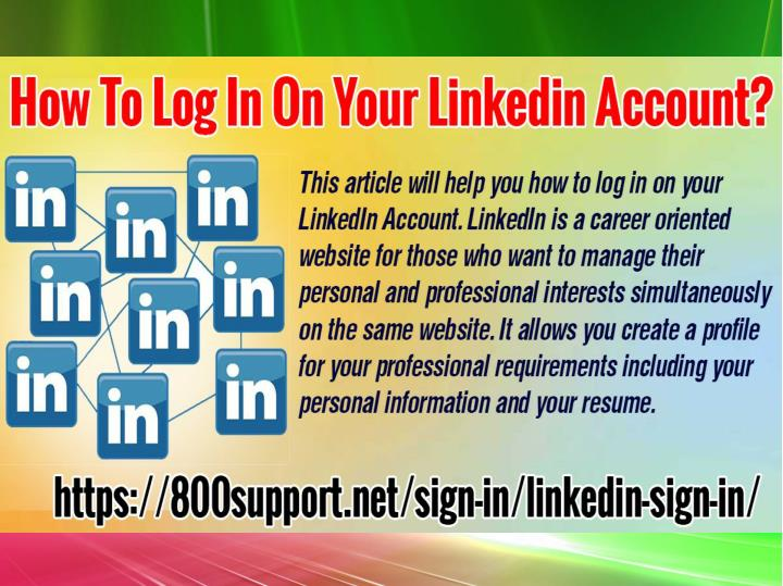 How to log in on your linkedin account