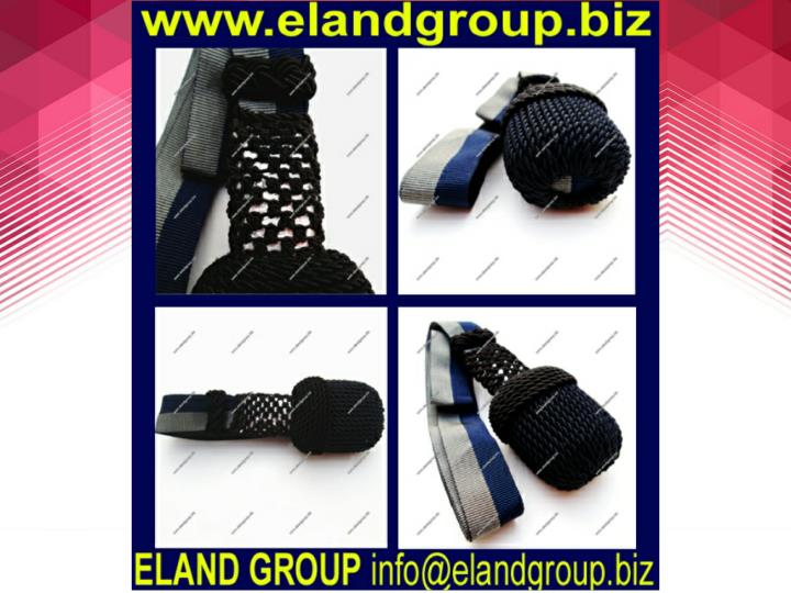 Black and blue silk sword knot