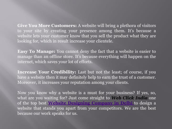 Give You More Customers: