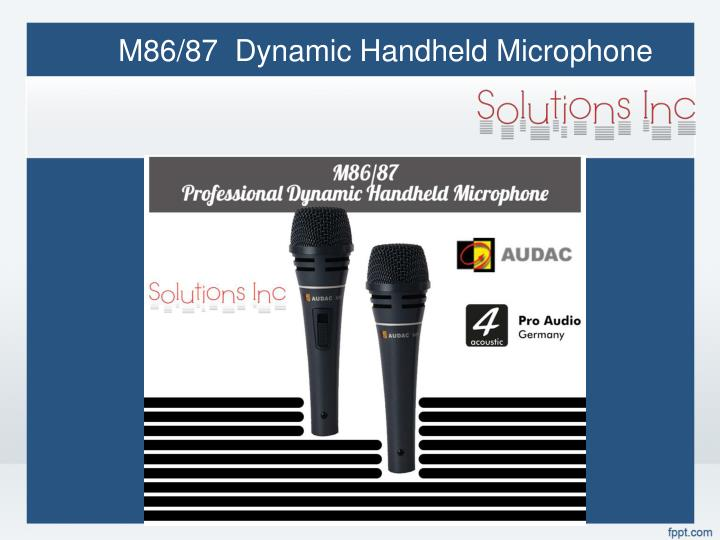 M86/87  Dynamic Handheld Microphone