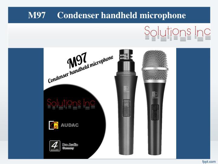 M97     Condenser handheld microphone