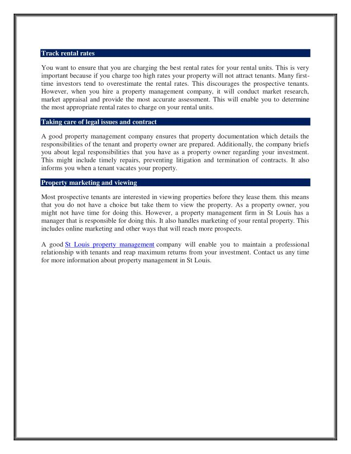 Track rental rates