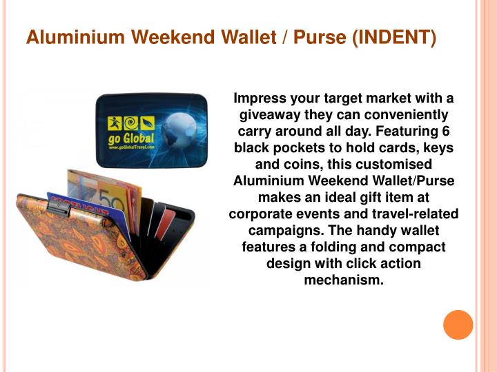 Aluminium Weekend Wallet / Purse (INDENT)