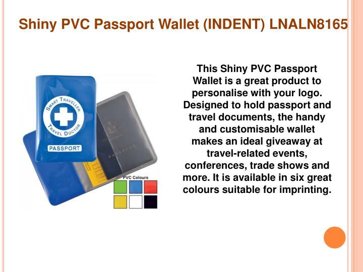 Shiny PVC Passport Wallet (INDENT) LNALN8165