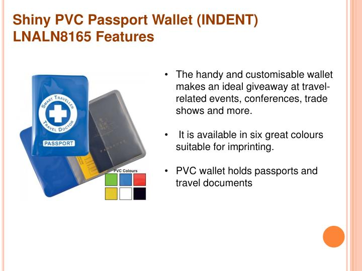 Shiny PVC Passport Wallet (INDENT) LNALN8165 Features
