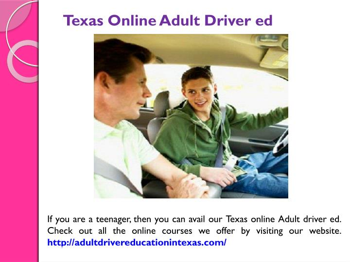 Texas Online Adult Driver ed