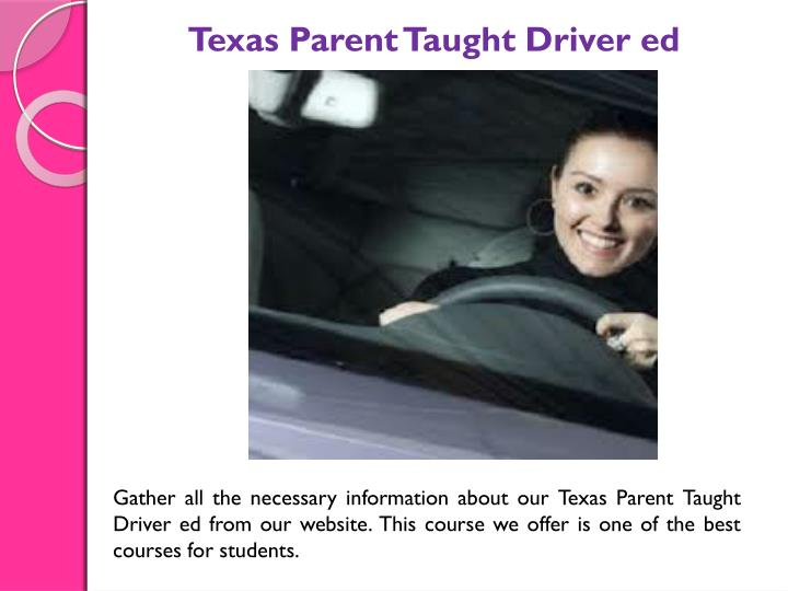 Texas Parent Taught Driver ed