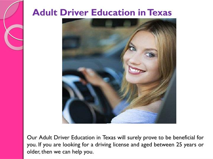 Adult Driver Education in Texas