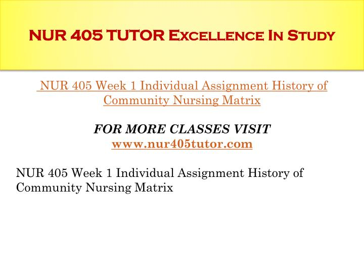 Nur 405 tutor excellence in study1