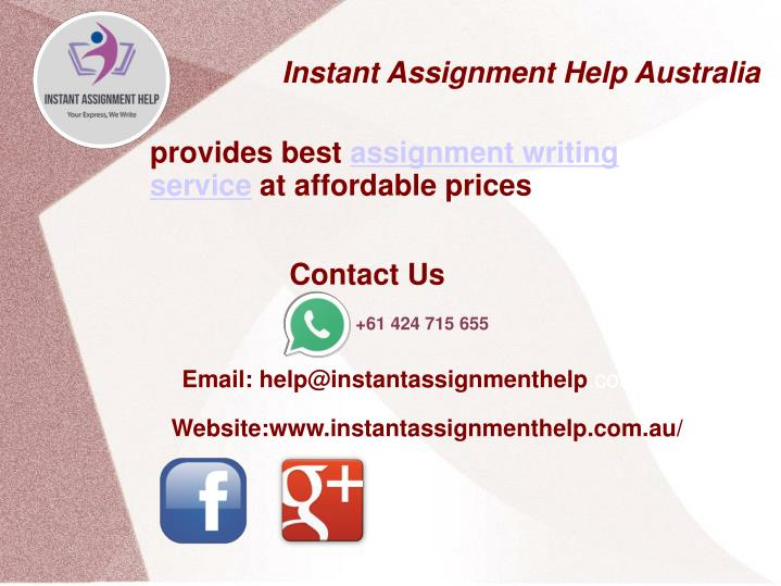 Reliable Assignment Help Online Service 24*7 by My Assignment Services