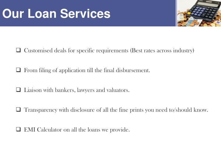 Our loan services
