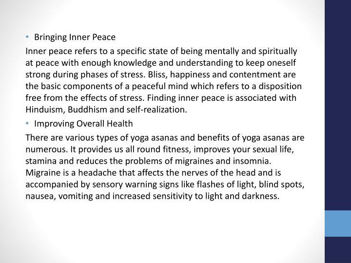 Bringing Inner Peace