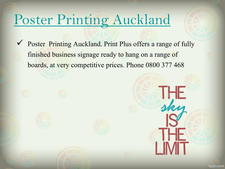 Poster Printing Auckland