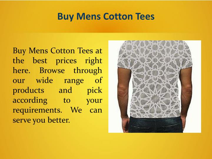 Buy Mens Cotton Tees