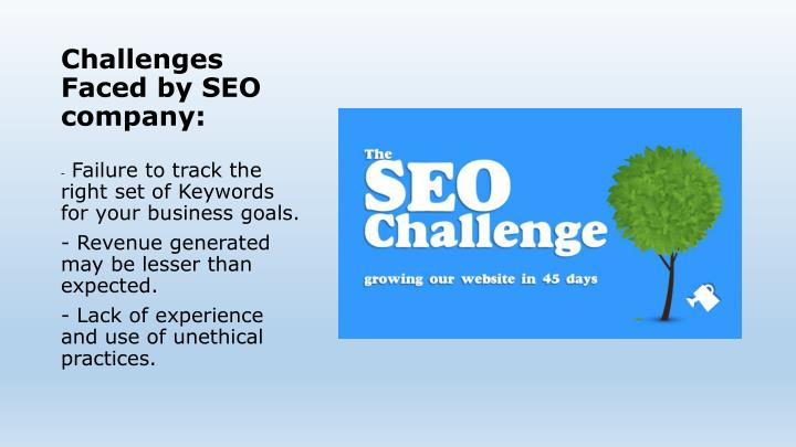 Challenges Faced by SEO company: