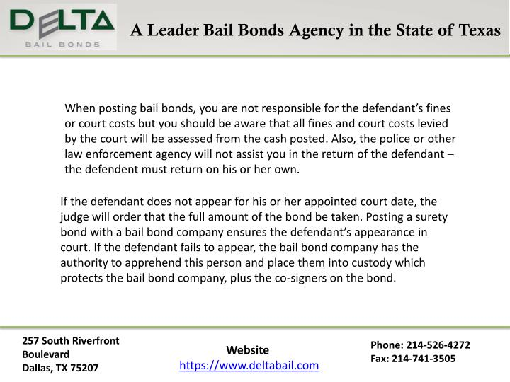A Leader Bail Bonds Agency in the State of Texas