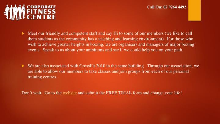Call On: 02 9264 4492