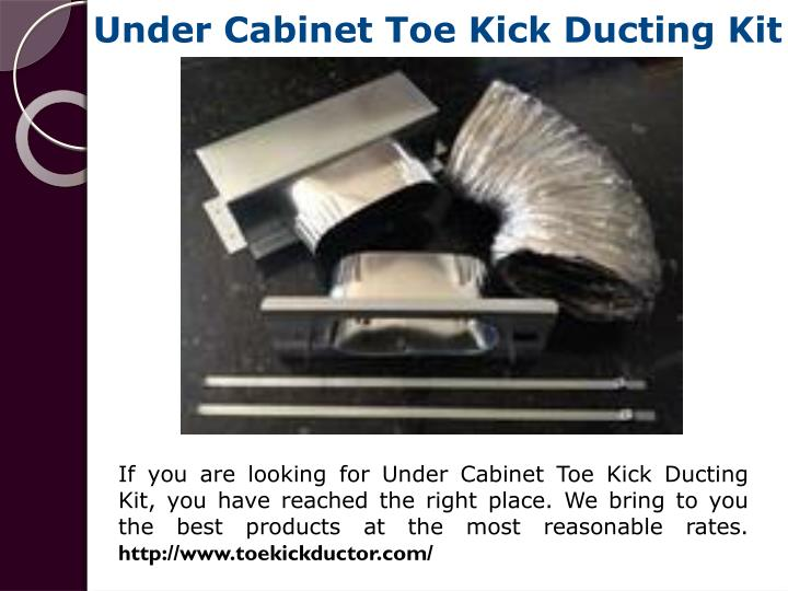 Under Cabinet Toe Kick Ducting Kit
