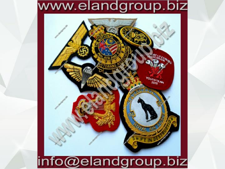 Uniform bullion badges