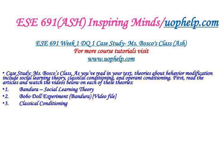 ESE 691(ASH) Inspiring Minds/