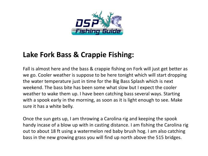 Lake Fork Bass & Crappie