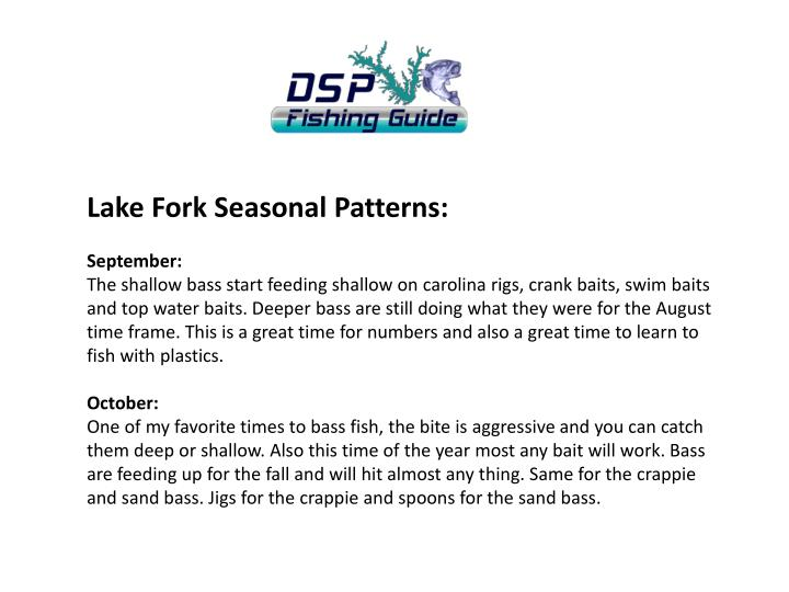 Lake Fork Seasonal