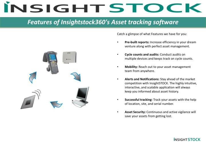 Features of Insightstock360's Asset tracking software