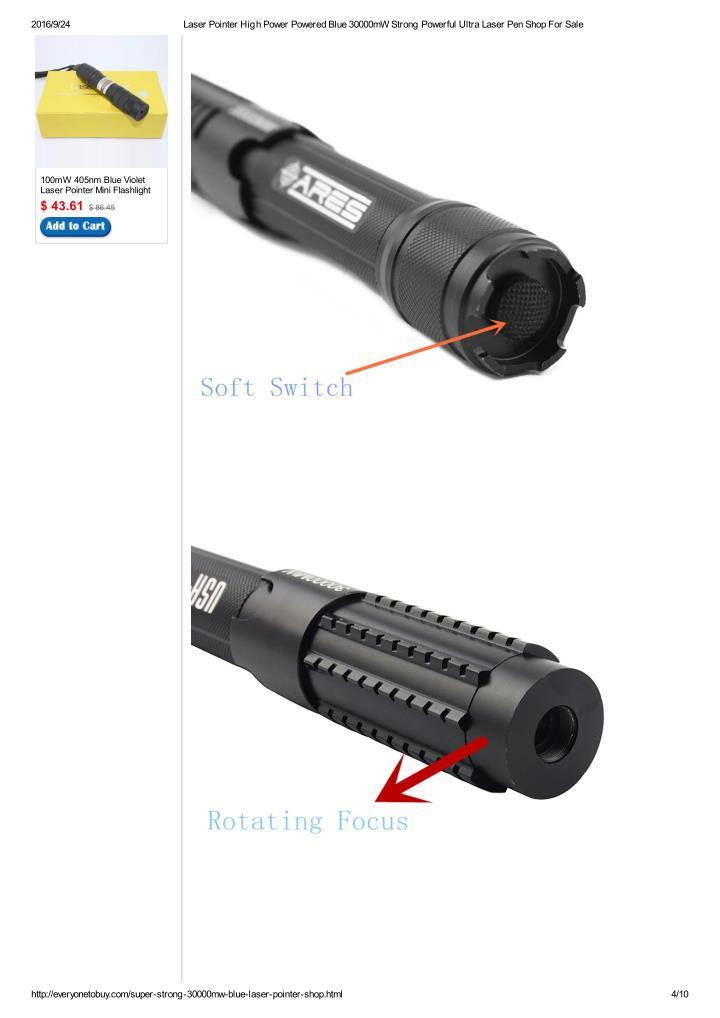 Ppt Ultra High Power Blue Laser Pointer 30000mw