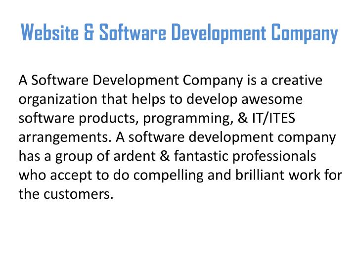 Website software development company