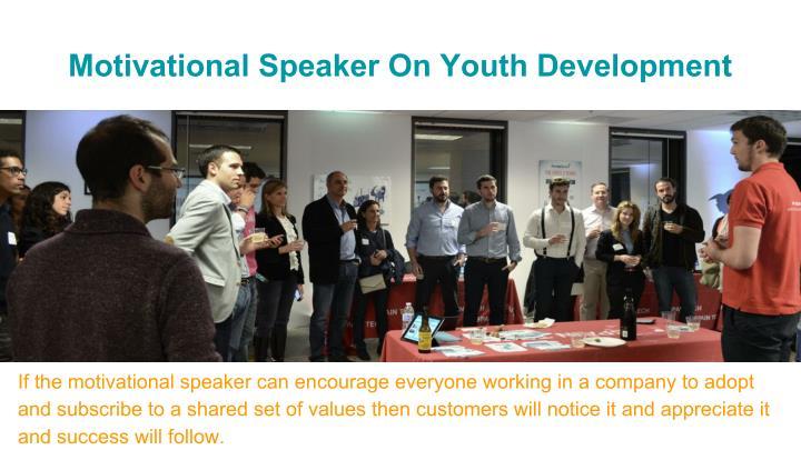 Motivational Speaker On Youth Development