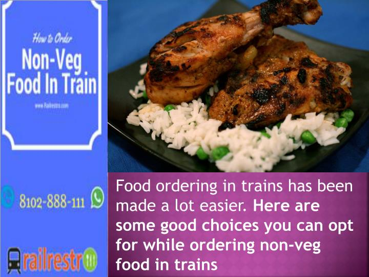 Food ordering in trains
