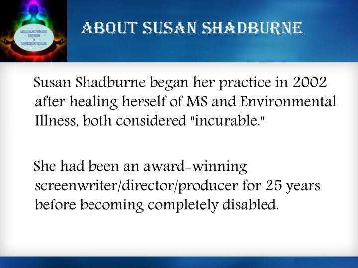 About Susan Shadburne