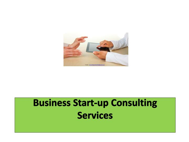 Business start up consulting services