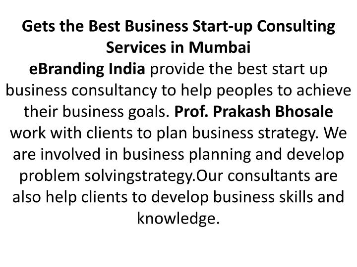 Gets the Best Business Start-up Consulting Services in Mumbai