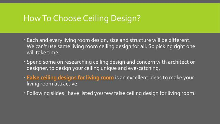 How to choose ceiling design