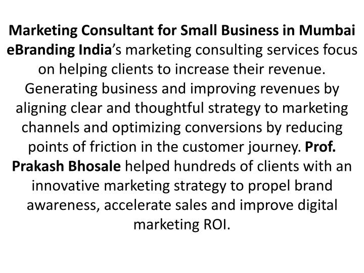 Marketing Consultant for Small Business in Mumbai