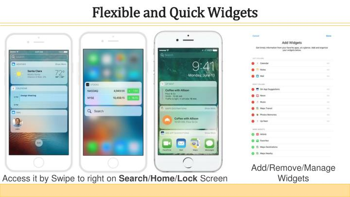Flexible and Quick Widgets