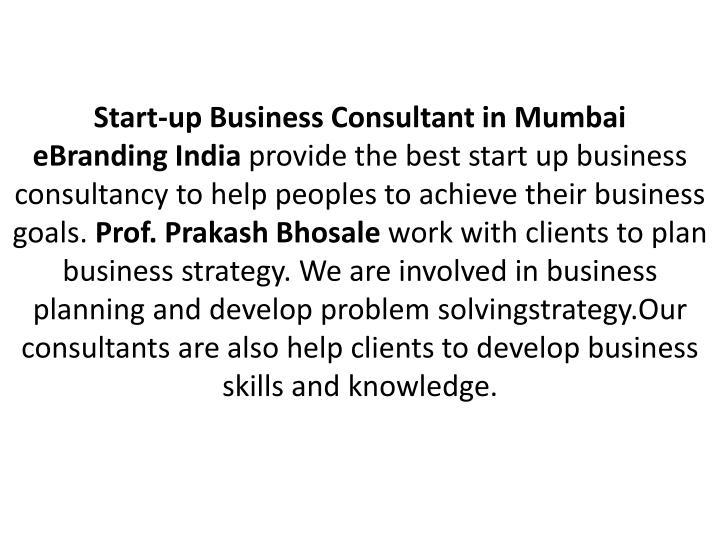 Start-up Business Consultant in Mumbai