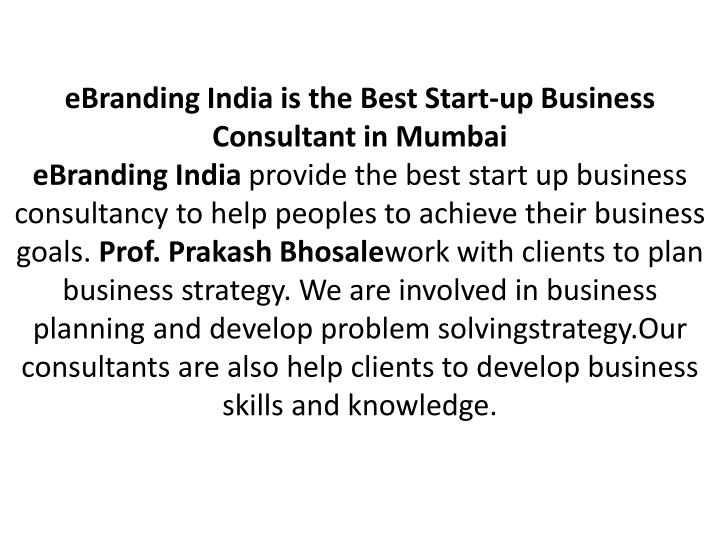 eBranding India is the Best Start-up Business Consultant in Mumbai