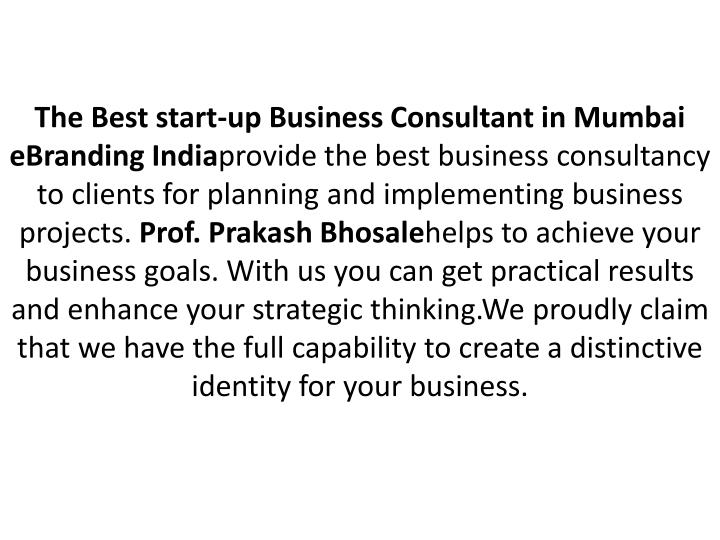 The Best start-up Business Consultant in Mumbai