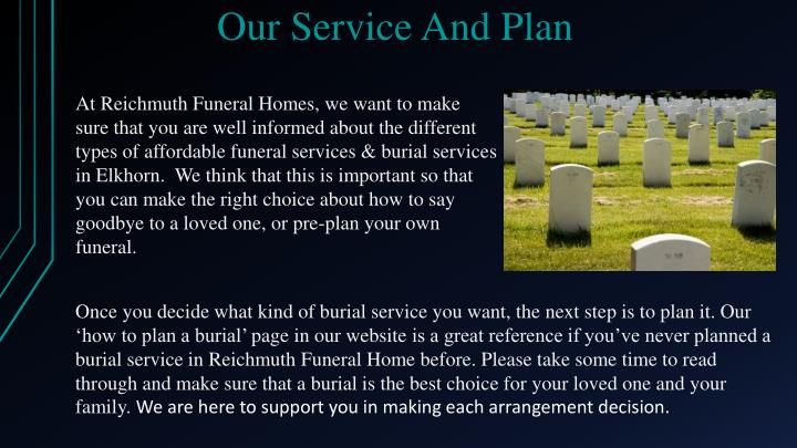 Our service and plan