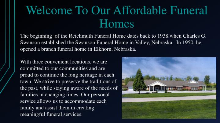 Welcome to our affordable funeral homes