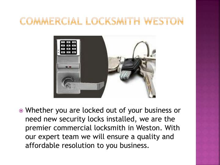 Commercial locksmith weston
