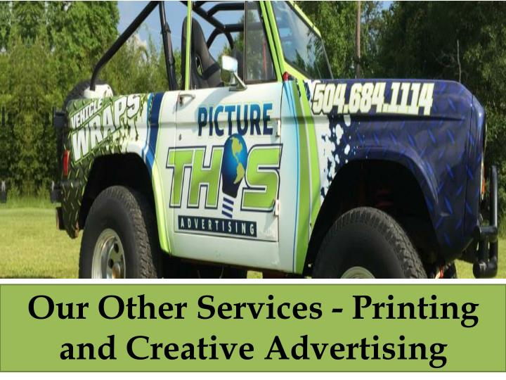 Our Other Services - Printing