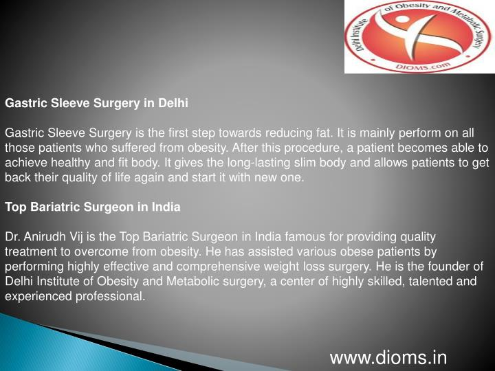 Gastric Sleeve Surgery in Delhi
