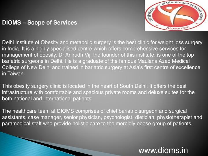 DIOMS – Scope of Services