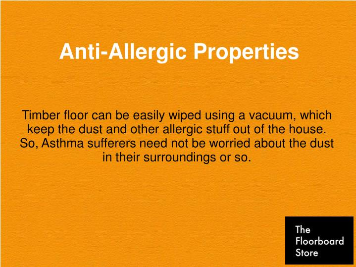 Anti-Allergic Properties