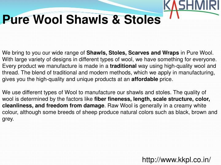 Pure Wool Shawls & Stoles