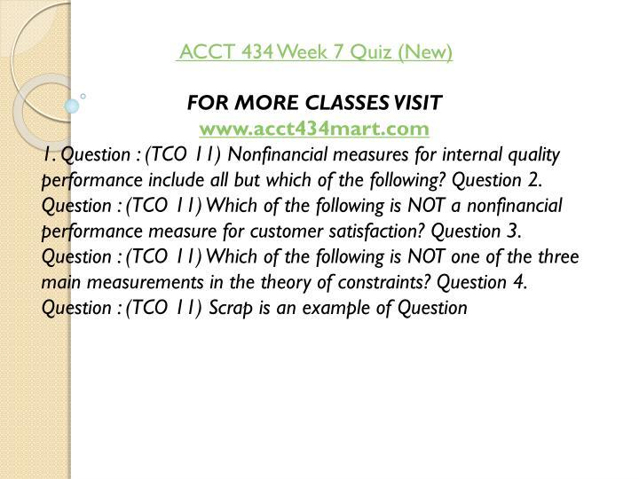 ACCT 434 Week 7 Quiz (New)